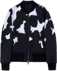 Neil Barrett | Fur Print Bomber Jacket | Lyst