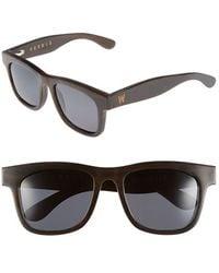 Woodzee - 'ferris' 52mm Sunglasses - Buffalo Horn/ Black - Lyst