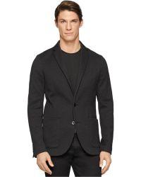 Calvin Klein Premium Cotton Knit Slim-Fit Blazer black - Lyst