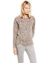 Vince Camuto Zebra Intarsia Sweater - Lyst