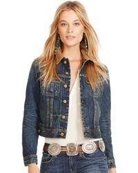Polo Ralph Lauren Washed Denim Jacket - Lyst