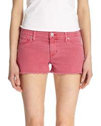 Hudson Amber Cutoff Shorts - Lyst