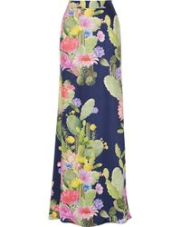 Matthew Williamson Printed Silk Satin Maxi Skirt - Lyst
