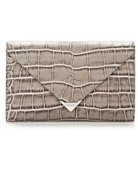 Alexander Wang Prisma Envelope Wallet in Oyster with Rhodium - Lyst