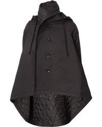 Comme Des Garçons Quilted Hooded Coat Black - Lyst