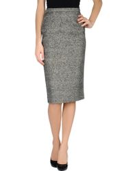 Dior 34 Length Skirt - Lyst