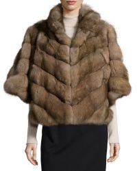 Gorski - Half-Sleeve Fur Jacket - Lyst