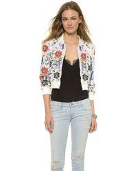 Alice + Olivia Alice + Olivia Jack Embellished Crop Jacket - Off White/Multi - Lyst