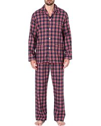 Derek Rose Ranga Brushed Cotton Pyjama Set Red - Lyst