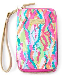 Lilly Pulitzer - Pink Multi-print Tiki Palm Iphone 6 Wristlet - Lyst