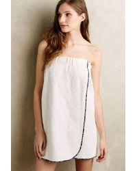 Eloise Nerys Jacquard Towel Wrap white - Lyst