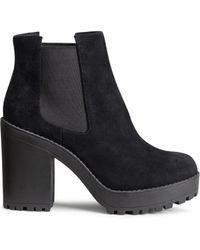 H&M Suede Platform Boots - Lyst