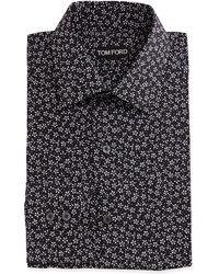 Tom Ford Mini-Floral Print Shirt - Lyst