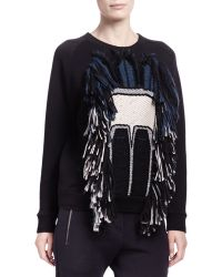 Lanvin Tribal Abstract Face Sweatshirt - Lyst