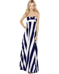 Akira Maxi Multi Function Dress in Navy White - Lyst