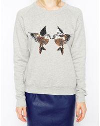 Sugarhill - Sequin Birdy Sweatshirt - Lyst