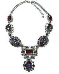Zara Black Rhinestone Necklace - Lyst