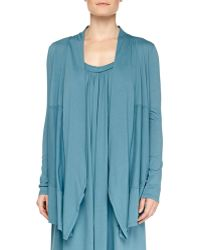 Donna Karan New York Pima Cotton Cozy Lounge Cardi - Lyst