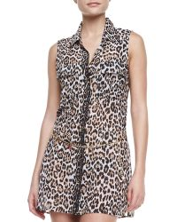 Juicy Couture Luxe Leopard Print Cover Up Dress - Lyst