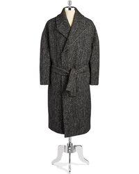 General Idea - Heathered Knit Coat - Lyst