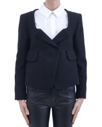 Carven Boucle-Fabric-Jacket - Lyst