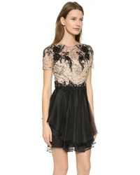 Notte By Marchesa Short Sleeve Cocktail Dress - Black - Lyst
