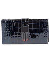 Opening Ceremony - 'misha' Croc Embossed Leather Wallet - Lyst