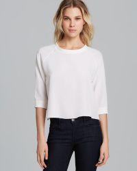 Tibi Sweatshirt Silk - Lyst