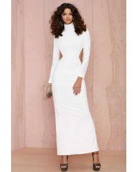 Nasty Gal Solace London Bougie Cutout Dress - White - Lyst