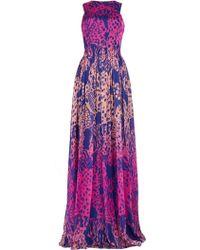Matthew Williamson Wing Lace Chiffon Gown - Lyst
