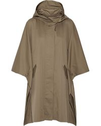 Adam Lippes Oversized Cotton-Blend Twill Poncho - Lyst
