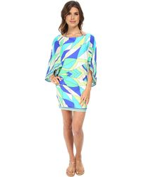 Trina Turk Fiji Feathers Covers Tunic Cover-Up - Lyst
