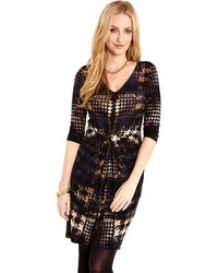 Karen Kane Houndstooth Tiffany Dress - Lyst