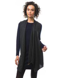 525 America Merino Dress W/ Zipper Drape blue - Lyst