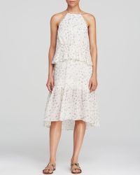 Tibi Dress - Shibori Dot Print Layered - Lyst
