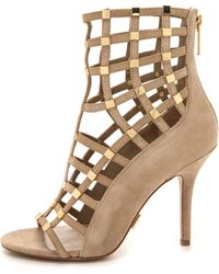 Michael Kors Collection Cora Cage Sandals  Nude - Lyst