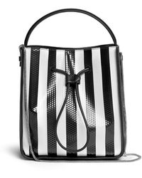 3.1 Phillip Lim Soleil Small Stripe Leather Bucket Drawstring Bag - Lyst
