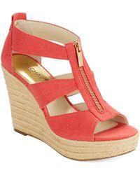 MICHAEL Michael Kors Damita Wedge Platform Sandals - Lyst