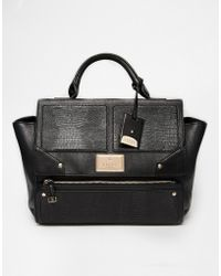 Lipsy - Mixed Fabric Winged Tote Bag - Lyst