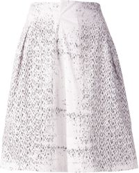 Jil Sander Print Skirt - Lyst