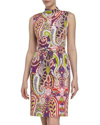 Lafayette 148 New York Paisley Selfbelted Sundress - Lyst