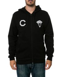 Crooks And Castles The Advisory Zip Up Hoodie - Lyst