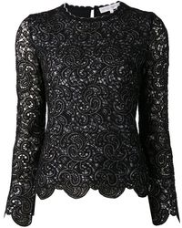 Carolina Herrera Lace Top - Lyst