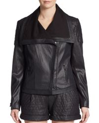 Catherine Catherine Malandrino Maurice Faux Leather Jacket - Lyst