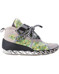 Camper Together X Bernhard Willhelm Graphic-Print Leather Sneakers - Lyst