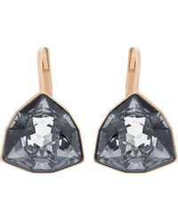 Swarovski - Brief Rose Goldtone And Silver Night Crystal Drop Earrings - Lyst