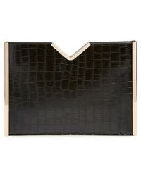 Natasha Couture - Croc Embossed Clutch - Lyst
