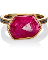 Judy Geib - Women's Ruby Slice & Pave Ring - Lyst