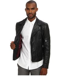 Marc Jacobs Leather Moto Jacket - Lyst