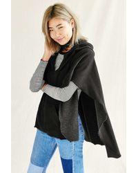Urban Renewal - Recycled Hooded Fleece Poncho - Lyst